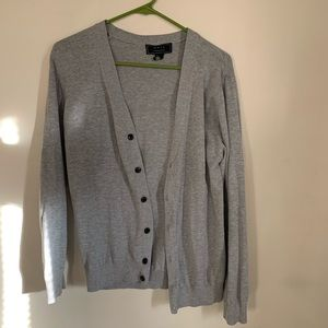 21 men's gray cardigan- medium